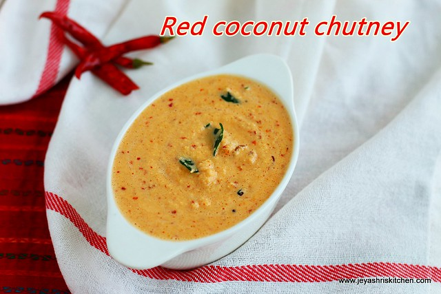 Coconut chutney with red chili