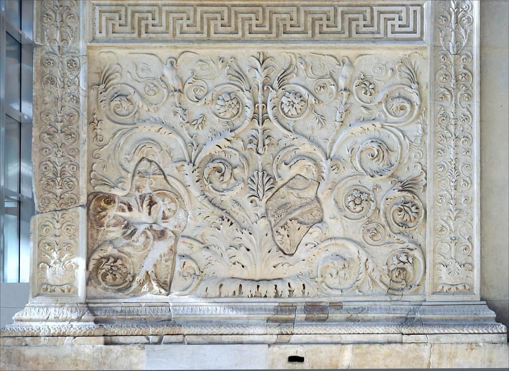 Motif vgtal muse de lAra Pacis Rome  Motif vgtal   Flickr