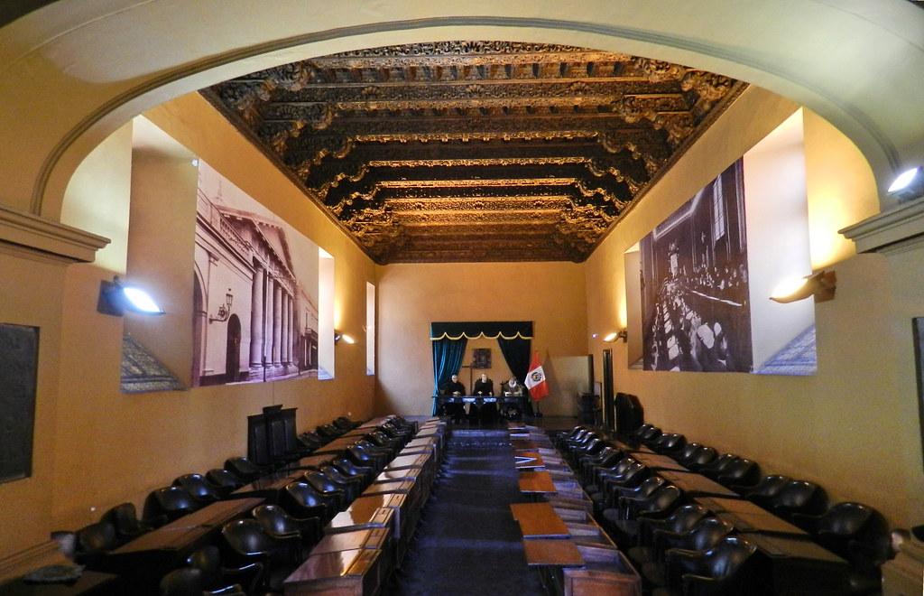 Lima Sala de audiencia Museo de La Inquisicion y del Congreso Peru 03
