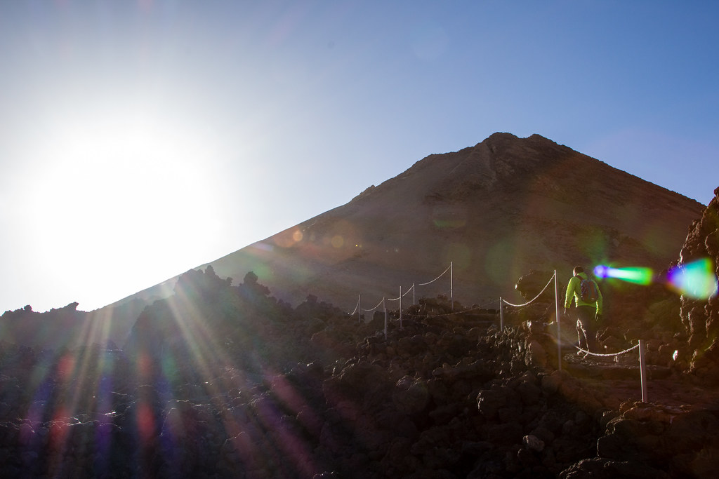 Nearing the summit of Mount Teide