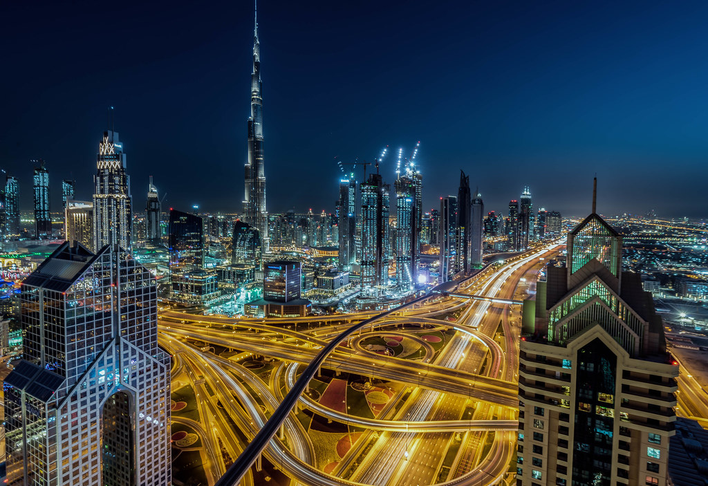 Dubai Skyline at Night  Sorry I have not been posting on