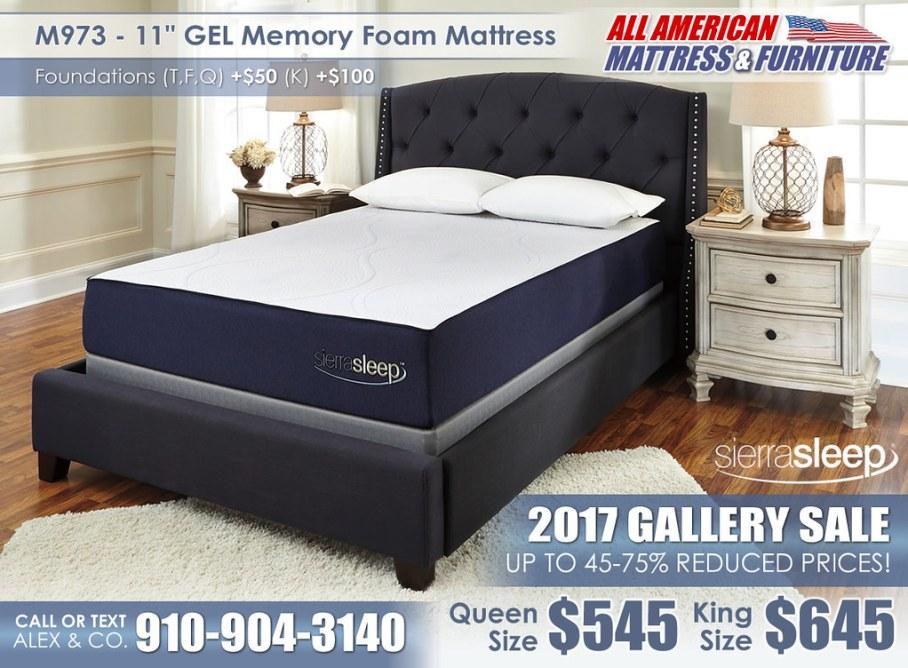 M973 11in GEL Memory Sierra Sleep 2017 Special