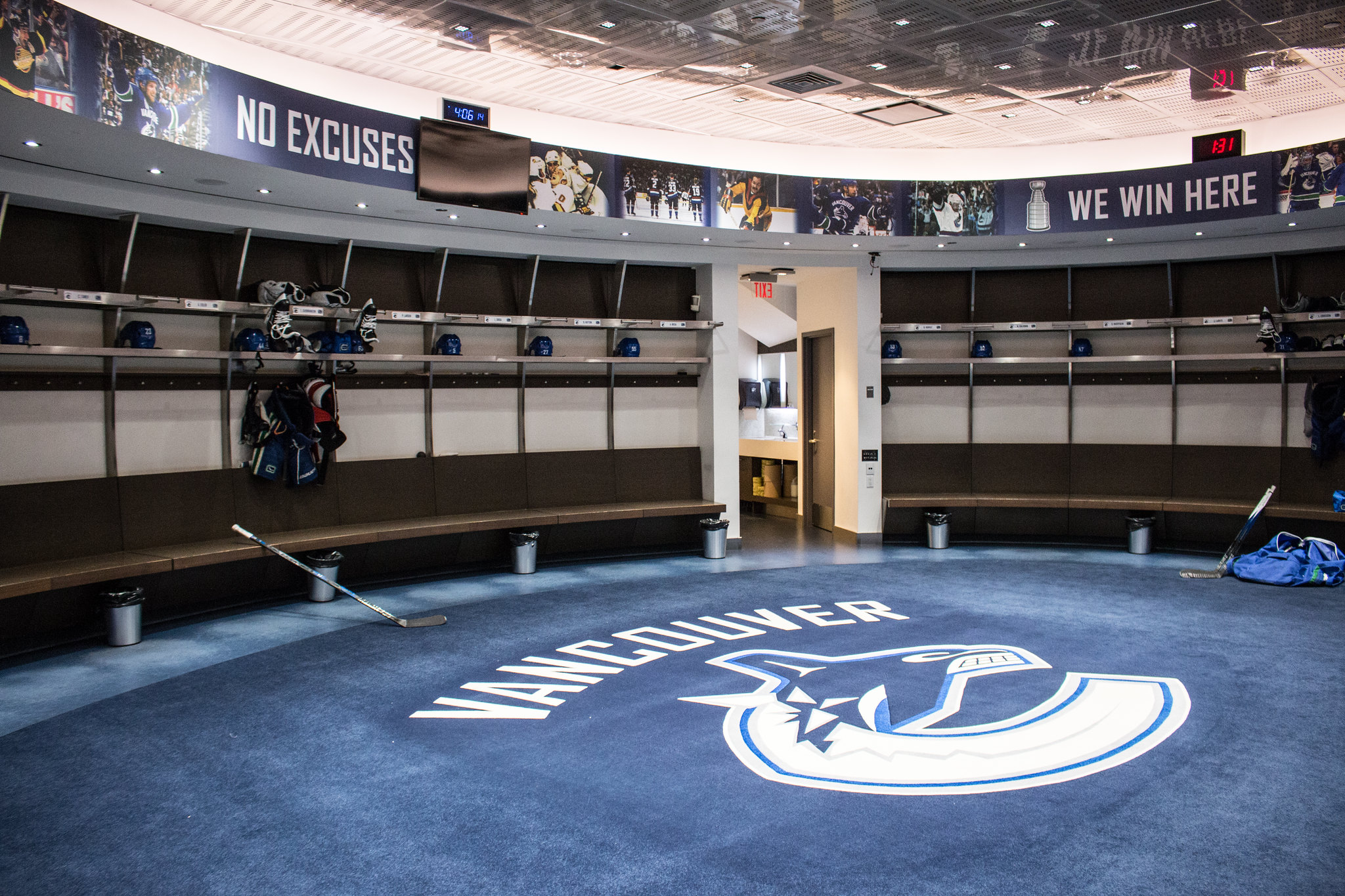 Cancuks Dressing Room Rogers Arena