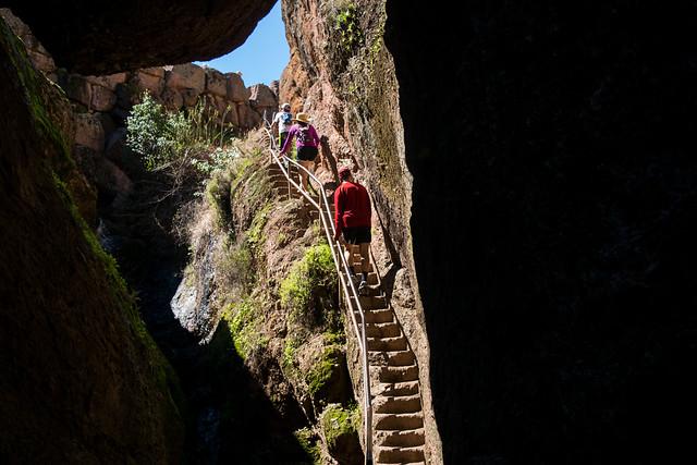 Exiting Bear Gulch Cave