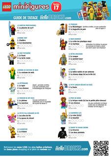 LEGO 71018 Collectible Minifigures series 17 Guide de tatage HelloBricks