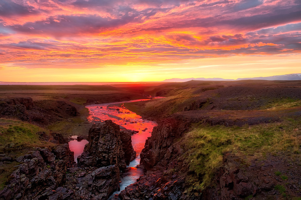 Sunset Wallpaper Hd Iceland Sunset Another Epic Sunset In Iceland This