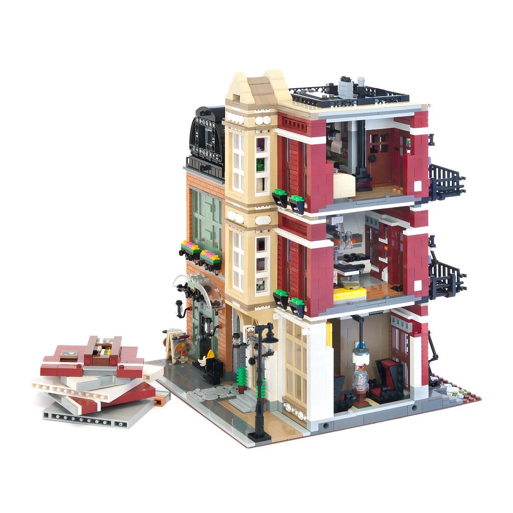 Lego Modular Bootblack Street Il A Tout D Un Vrai Hellobricks Blog Lego