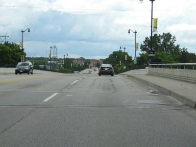 U.S. 41 Crossing Menominee River into Marinette, Wisconsin ...
