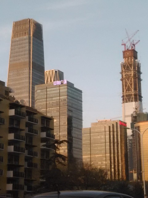 China World Trade Center Tower and China Zun Tower, picture taken on April 11.