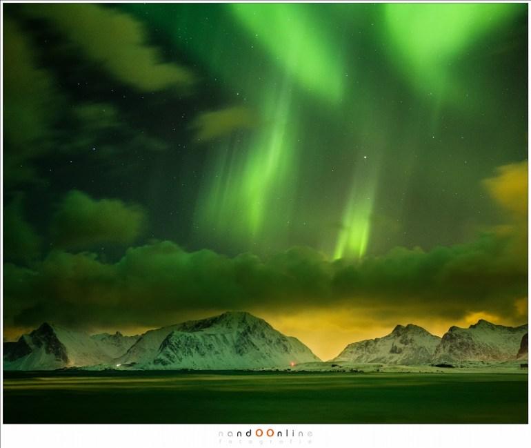 Het Noorderlicht... er zijn geen garanties maar we gaan zeker op zoek naar dit bijzondere fenomeen (februari 2016)