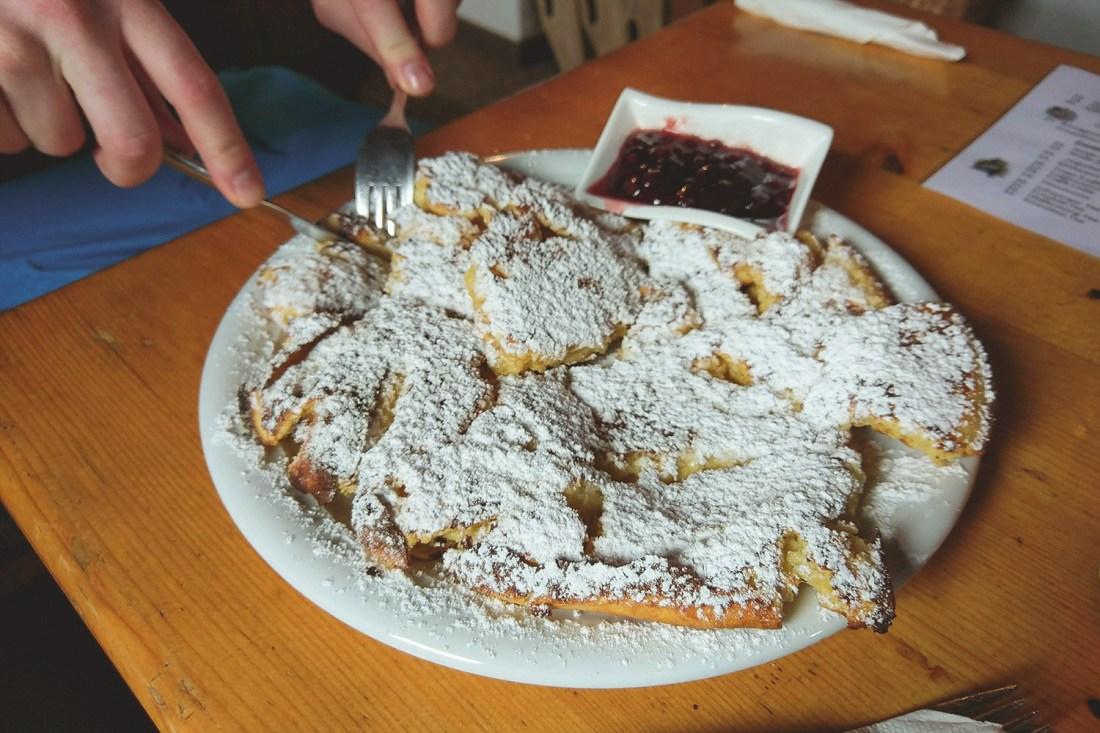 Kaiserschmarren pancakes - Solden, Austria