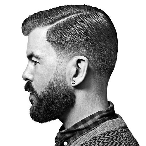 Barba en Degradé: Look de Barba Perfilada