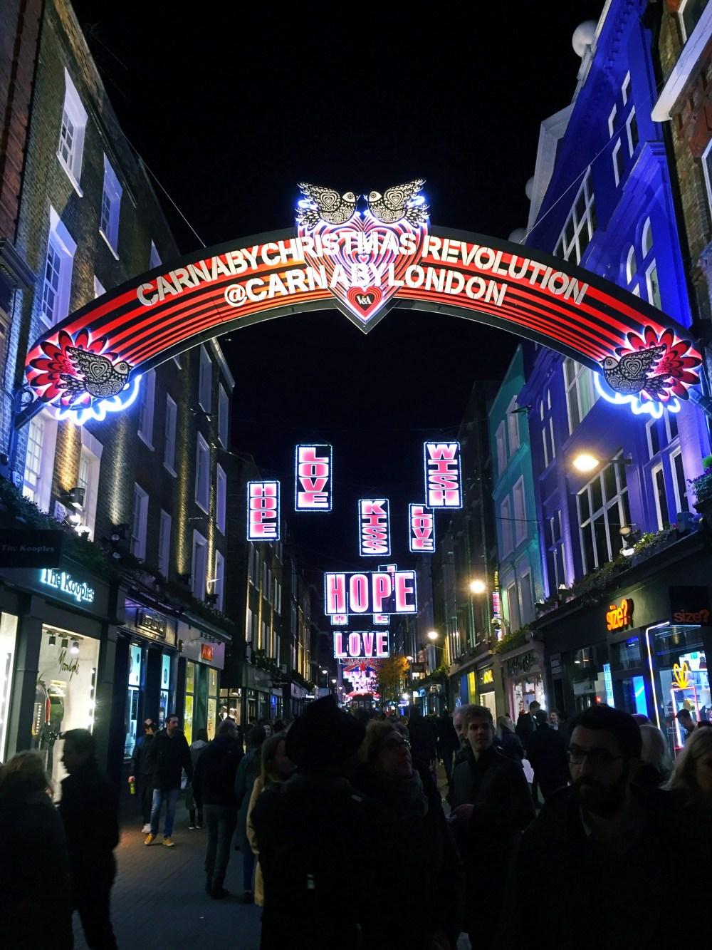 11 Dec 2016: Christmas Lights @ Carnaby Street   London, England