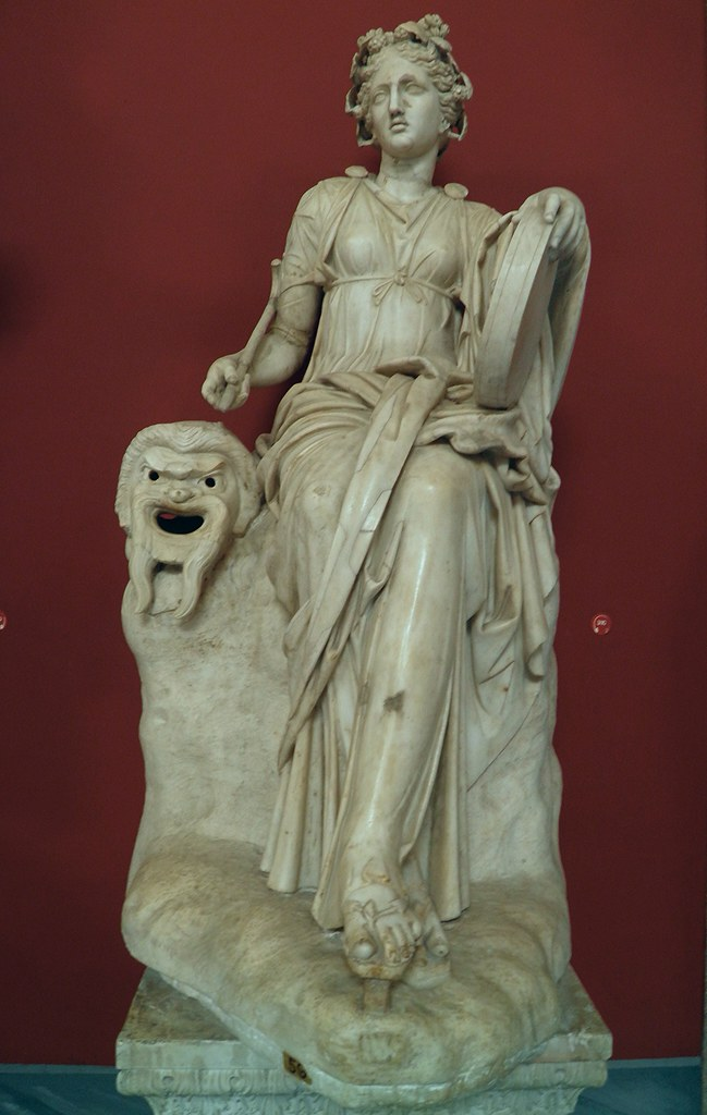 Statue of Melpomene Muse of Tragedy found at the Villa o  Flickr