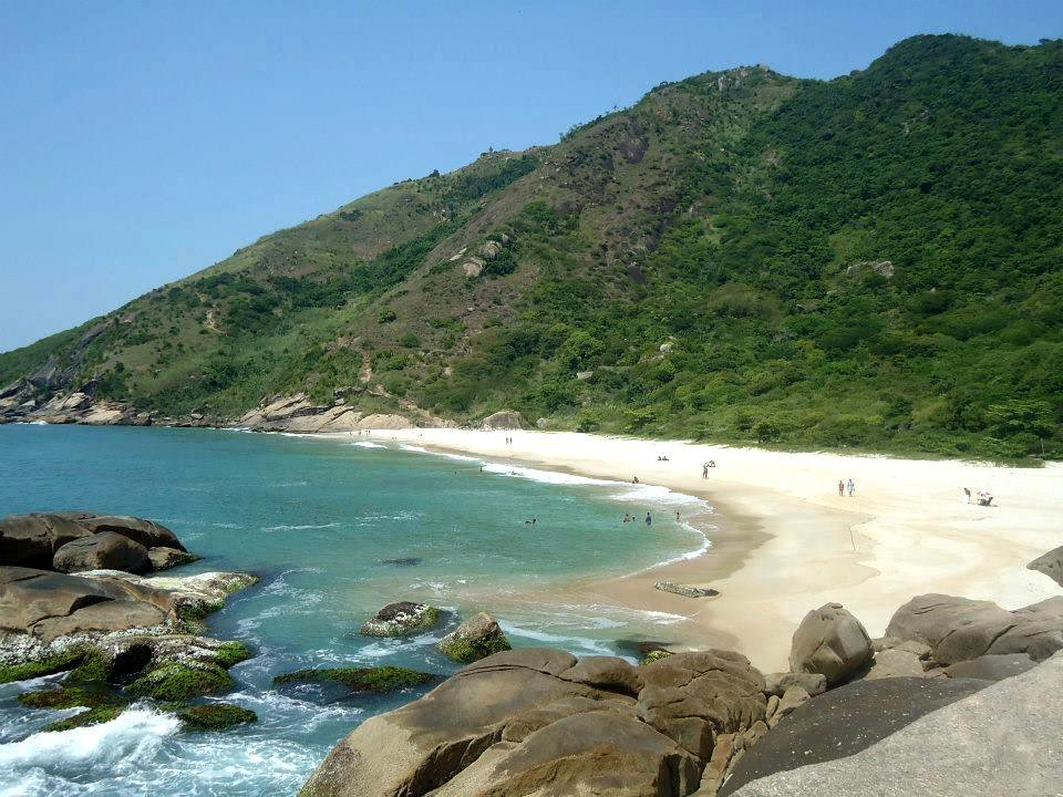 Praia do Meio. Pontal de Barra de Guaratiba, Rio de Janeiro, Brasil