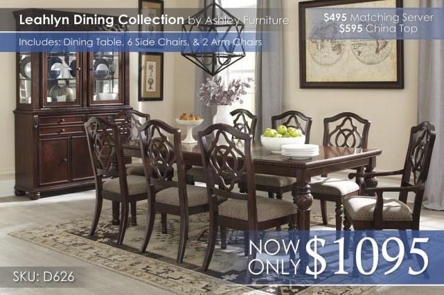 Leahlyn Dining Collection D626-35-01(6)-01A(2)-80-81-ALT