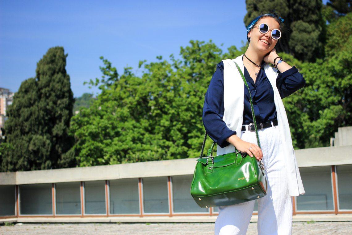 9 tenue blanche lunette de soleil
