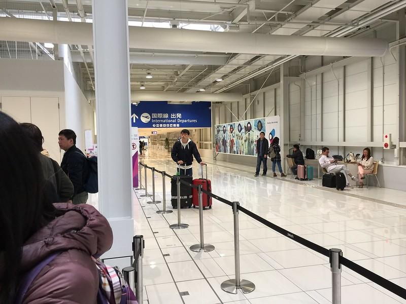 大阪 關西機場 第二航廈 裡面相當空曠...