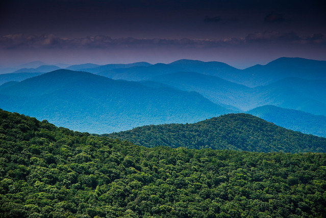 Georgias Appalachian Mountains from Brasstown Bald