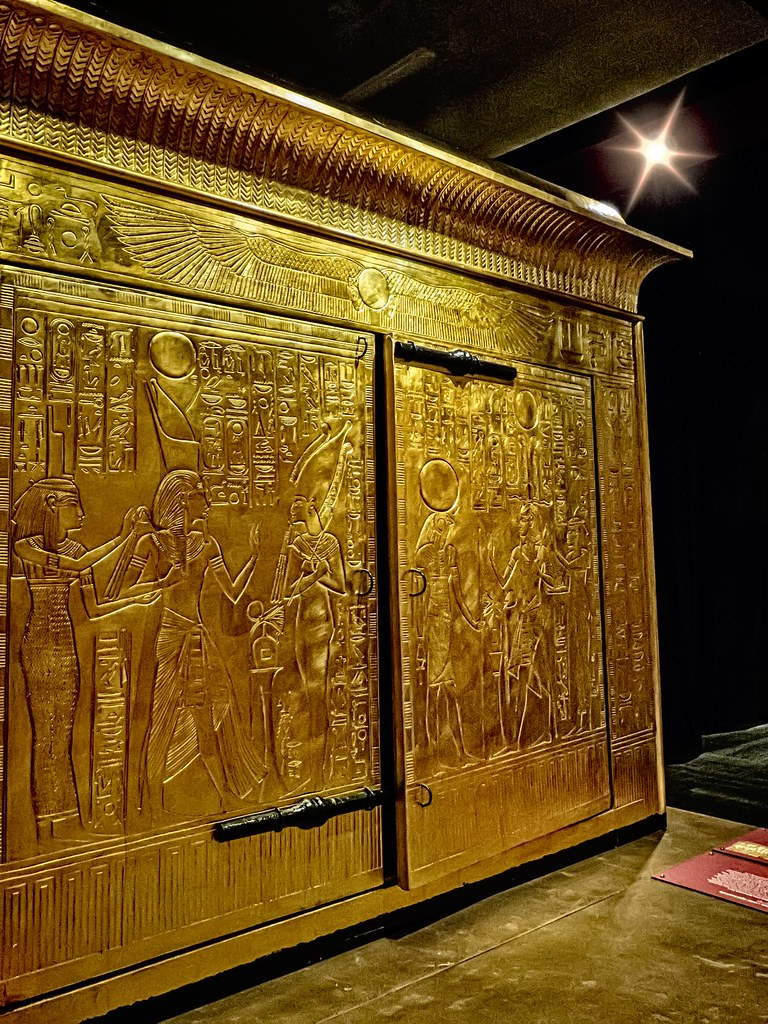 King Tutankhamuns gold burial shrine that contained his s