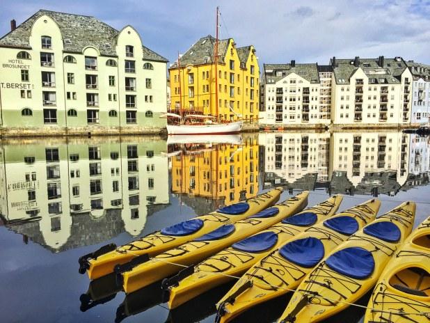 Kayak en Alesund