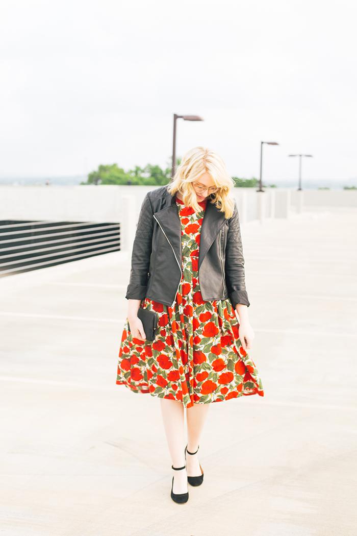 austin fashion blogger spring wedding outfit vintage dress5