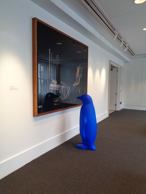 Blue Penguins Admiring Art, at Lexington KY 21c Museum Hotel