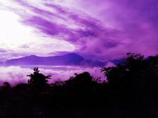 mount rantemario / latimojong view in purple haze