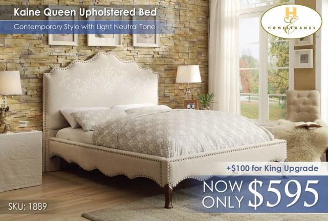 Kaine Uphosltered Bed Homelegance 1889n-1