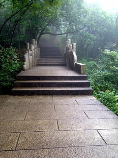 paved path on huangshan mountain