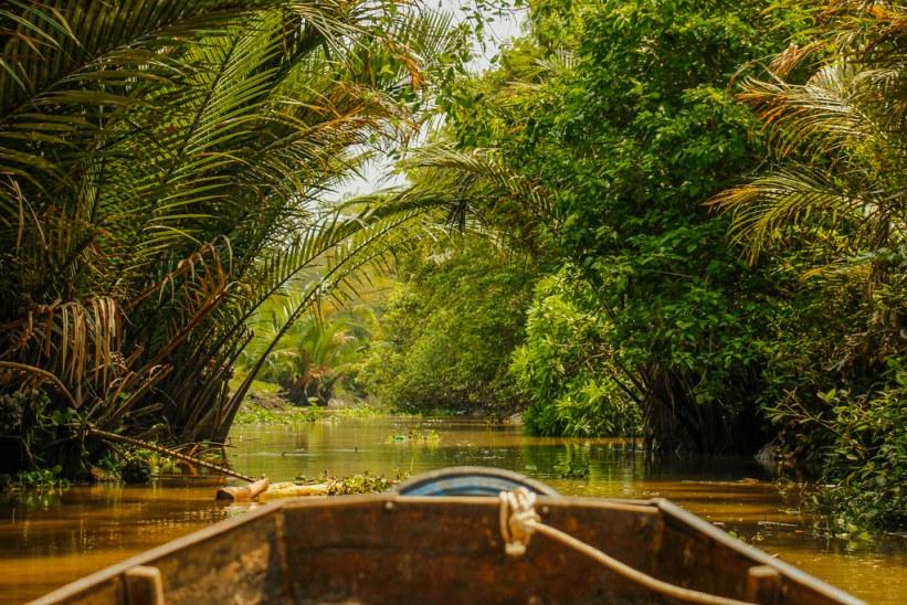 bådtur i Vietnam