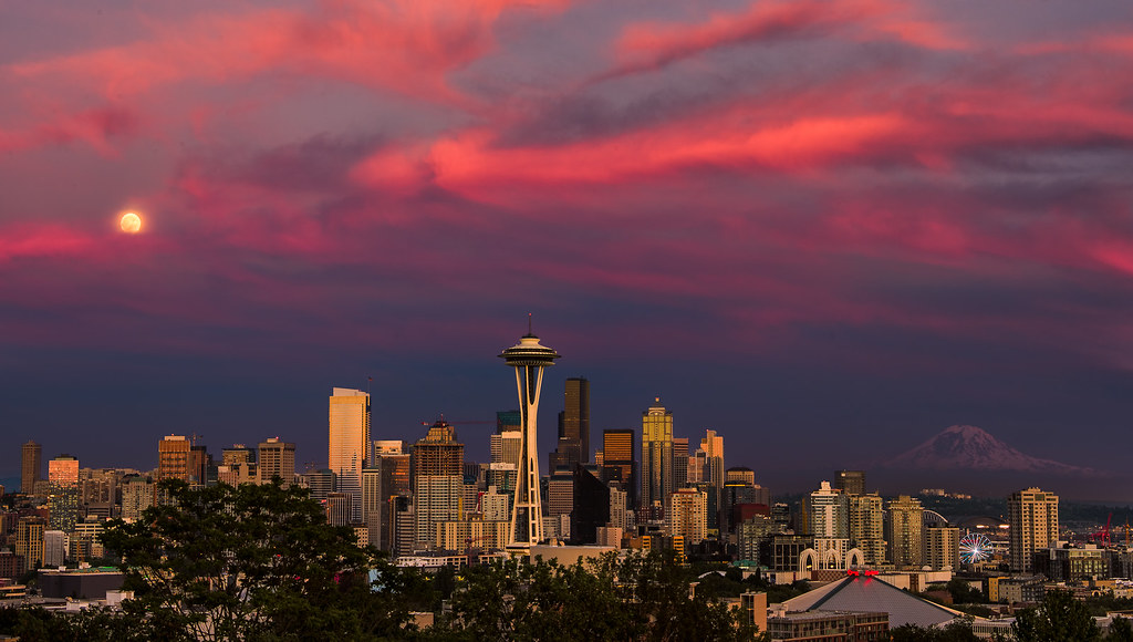 3d Wallpaper Clouds The Many Faces Of A Seattle Sunset 2 The Weather In