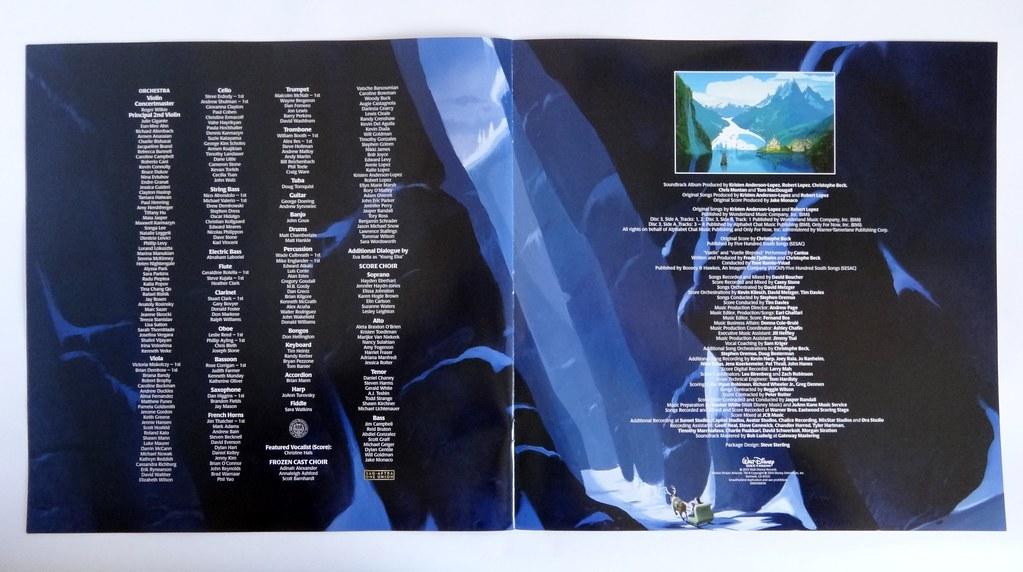 Disney Frozen Soundtrack Deluxe Vinyl Record Album 12 In