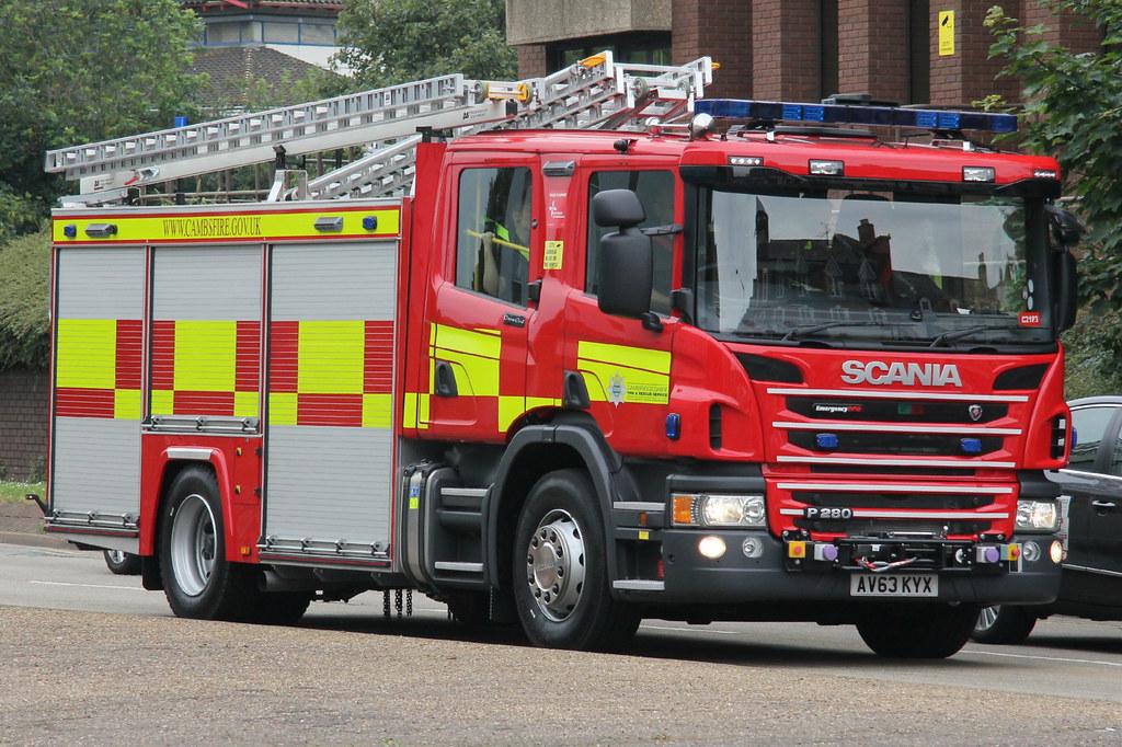 Cambridgeshire Fire  Rescue Service Scania P280 Water Lad