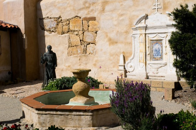 Fountain At Mission Carmel