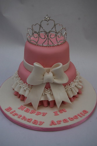 Two Tiered Tiara Cake Beautiful Birthday Cakes