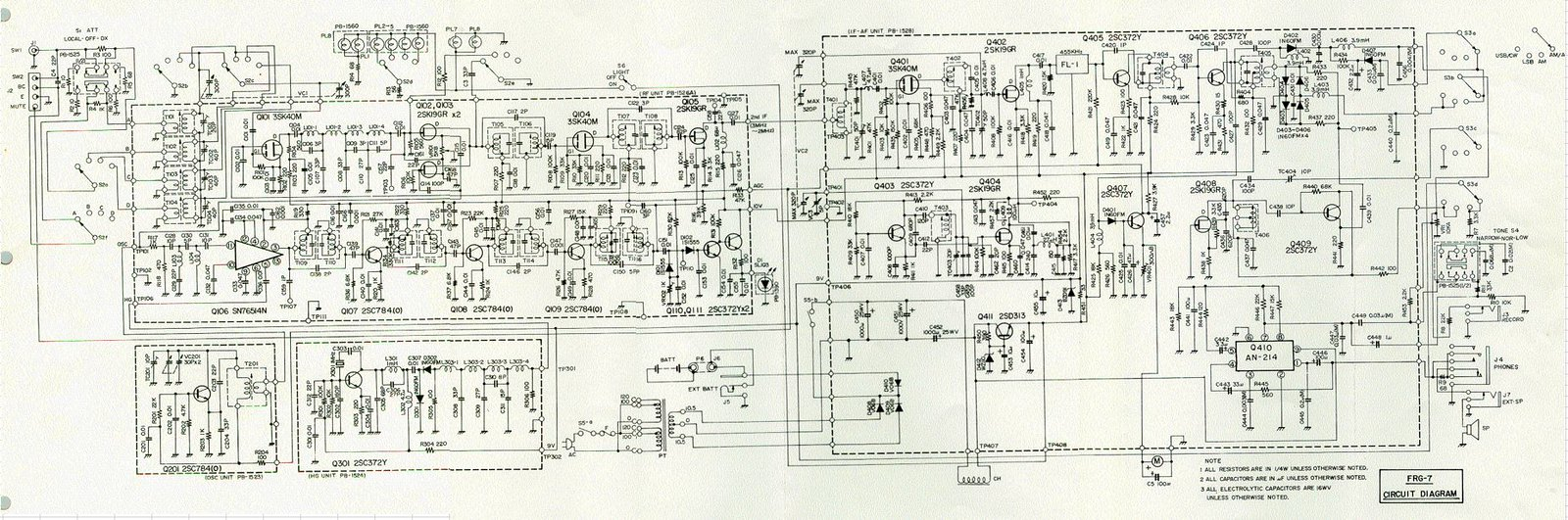 hight resolution of frg 7 replace electrolytic caps or leave well enough alone frg 7 circuit diagram
