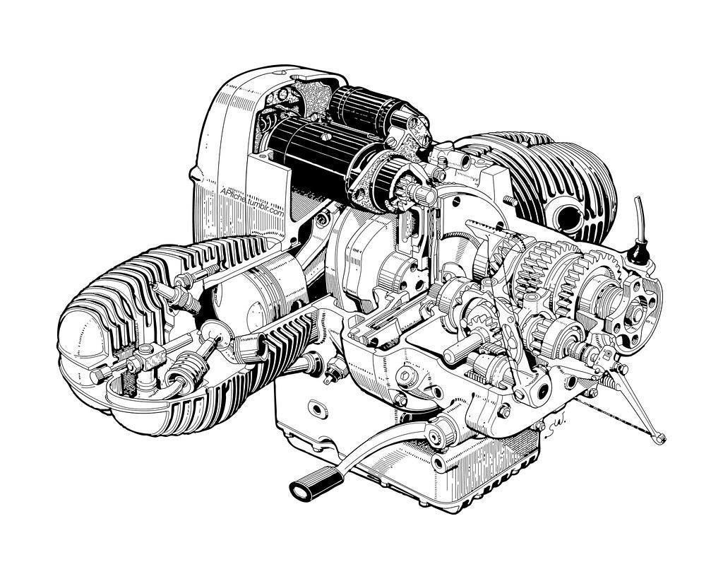 Bmw 5 Engine Cutaway View