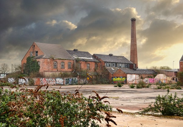 derelict industrial landscape