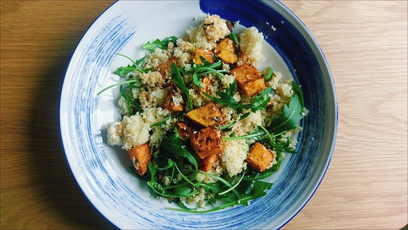 Meat-Free January - Sweet Potato and rocket cous cous