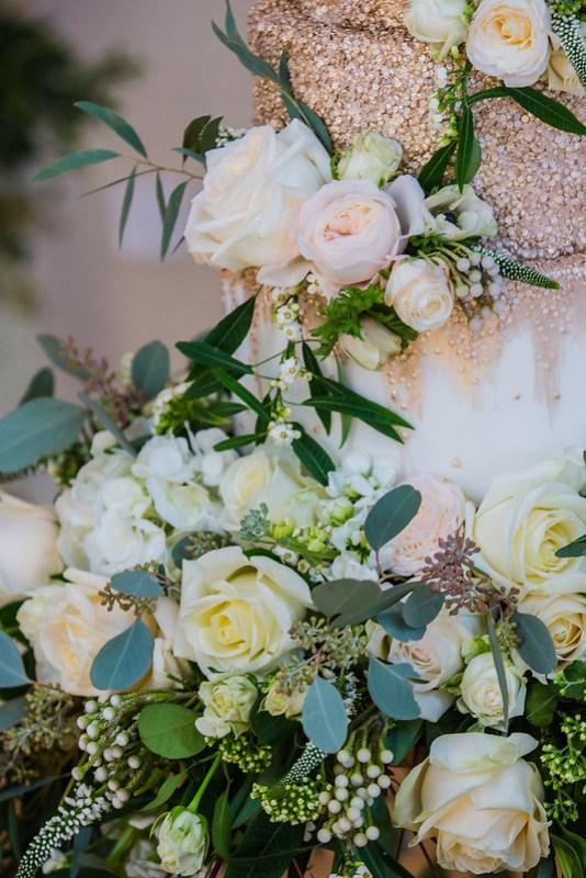 Wanderlust Us Travel Blog - Winter Wedding Bassmead Manor Barns - Suspended Wedding Cake