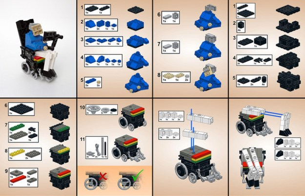 LEGO Stephen Hawking: Instructions