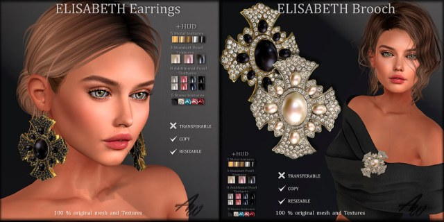AvaWay ELISABETH Earrings & Brooch