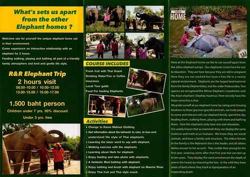 Mae Rim Elephant Home Chiang Mai Thailand Brochure 2