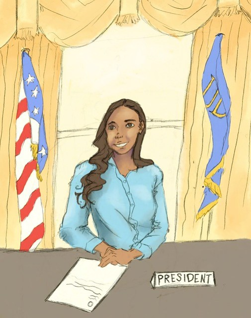 Editorial Cartoon SGA Natalie Criscenzo endorsement