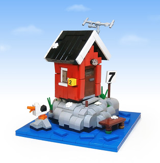 Boathouse on the west coast