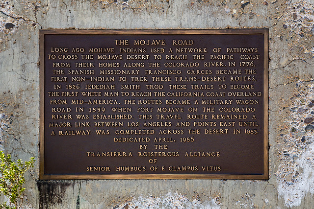 The Mojave Road Monument