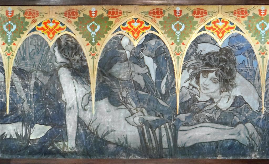 3d Art Wallpaper Girl Alfons Mucha Paris 1900 Mus 233 E Du Petit Palais D 233 Tail