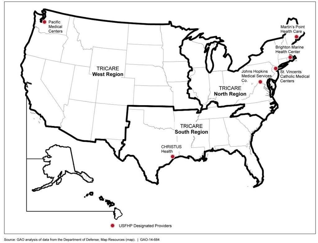 Figure 1 Location Of Six Us Family Health Plan Usfhp De