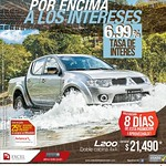 pick up DOBLE cabina 4x4 promotion MITSUBISHI - 23jul14